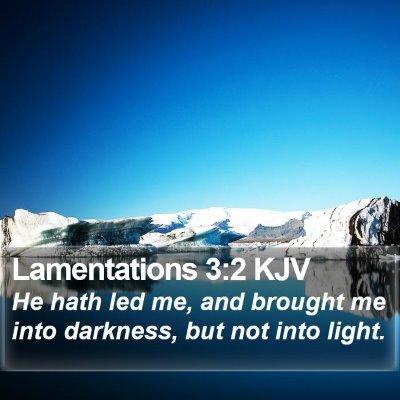 Lamentations 3:2 KJV Bible Verse Image