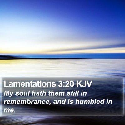 Lamentations 3:20 KJV Bible Verse Image