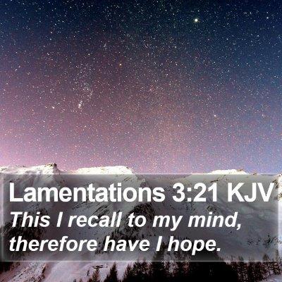 Lamentations 3:21 KJV Bible Verse Image