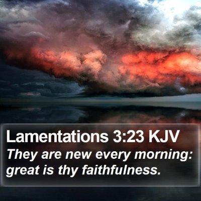 Lamentations 3:23 KJV Bible Verse Image