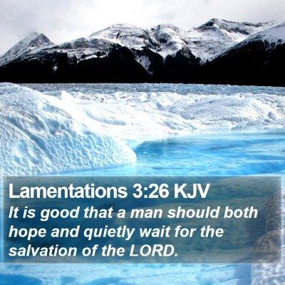 Lamentations 3:26 KJV Bible Verse Image