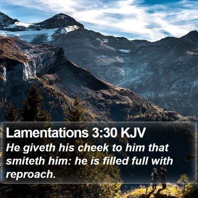 Lamentations 3:30 KJV Bible Verse Image