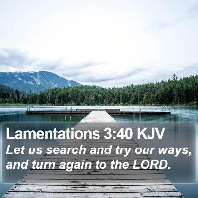 Lamentations 3:40 KJV Bible Verse Image