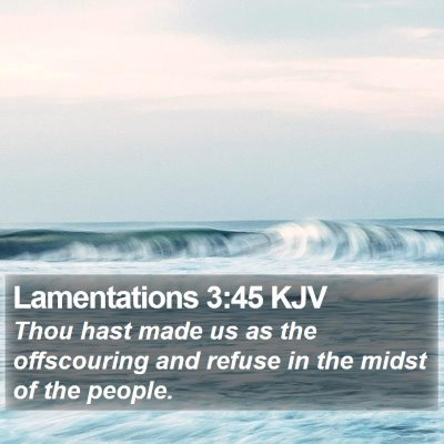 Lamentations 3:45 KJV Bible Verse Image