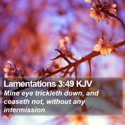 Lamentations 3:49 KJV Bible Verse Image