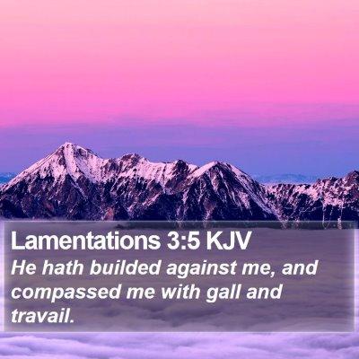 Lamentations 3:5 KJV Bible Verse Image