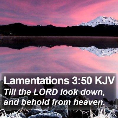 Lamentations 3:50 KJV Bible Verse Image
