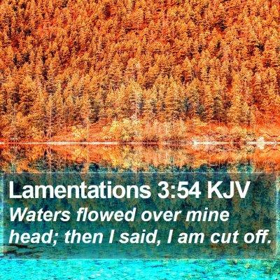 Lamentations 3:54 KJV Bible Verse Image