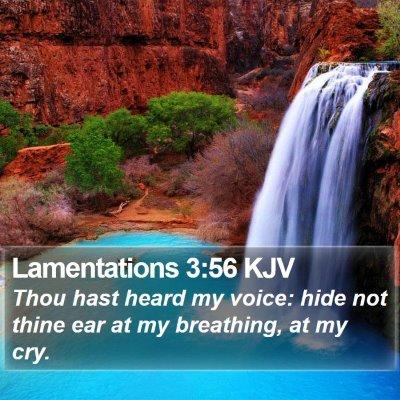Lamentations 3:56 KJV Bible Verse Image