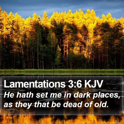 Lamentations 3:6 KJV Bible Verse Image