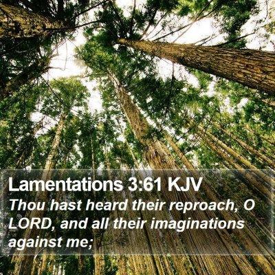 Lamentations 3:61 KJV Bible Verse Image