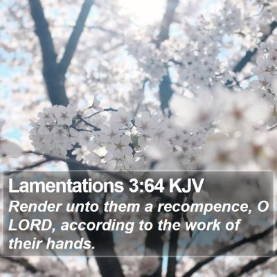 Lamentations 3:64 KJV Bible Verse Image