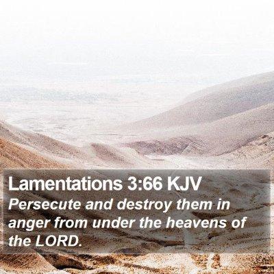 Lamentations 3:66 KJV Bible Verse Image