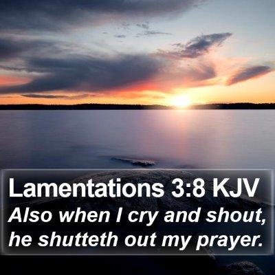 Lamentations 3:8 KJV Bible Verse Image