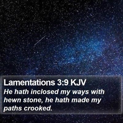 Lamentations 3:9 KJV Bible Verse Image