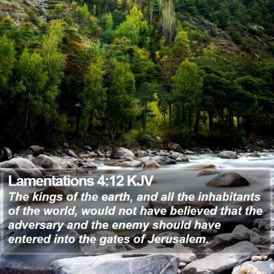 Lamentations 4:12 KJV Bible Verse Image
