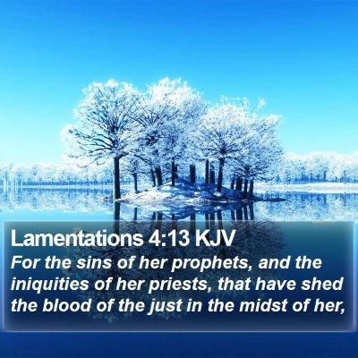 Lamentations 4:13 KJV Bible Verse Image