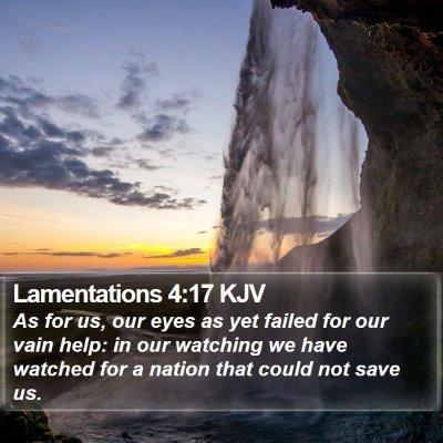 Lamentations 4:17 KJV Bible Verse Image