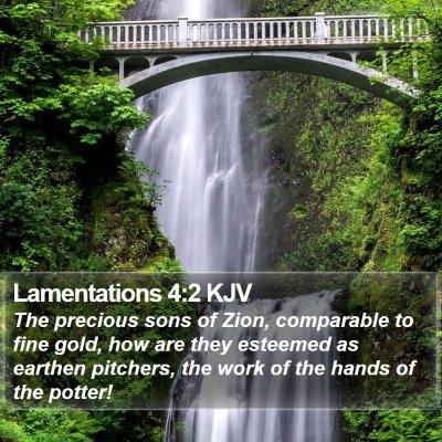 Lamentations 4:2 KJV Bible Verse Image