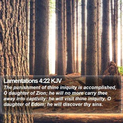Lamentations 4:22 KJV Bible Verse Image