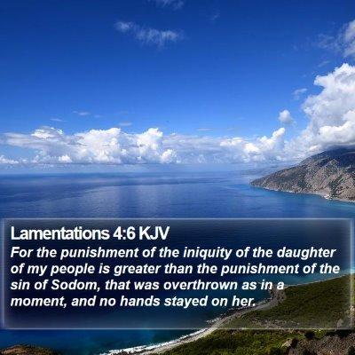 Lamentations 4:6 KJV Bible Verse Image