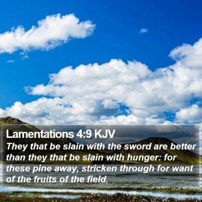 Lamentations 4:9 KJV Bible Verse Image