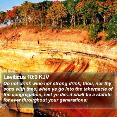 Leviticus 10:9 KJV Bible Verse Image