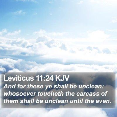 Leviticus 11:24 KJV Bible Verse Image