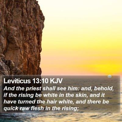 Leviticus 13:10 KJV Bible Verse Image