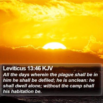 Leviticus 13:46 KJV Bible Verse Image