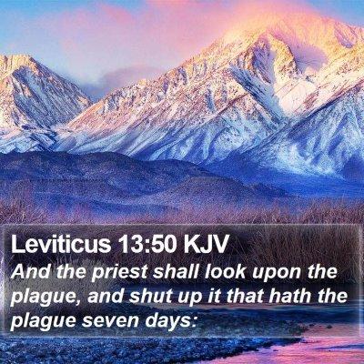 Leviticus 13:50 KJV Bible Verse Image