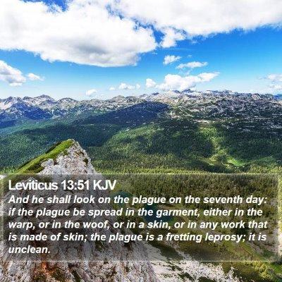 Leviticus 13:51 KJV Bible Verse Image