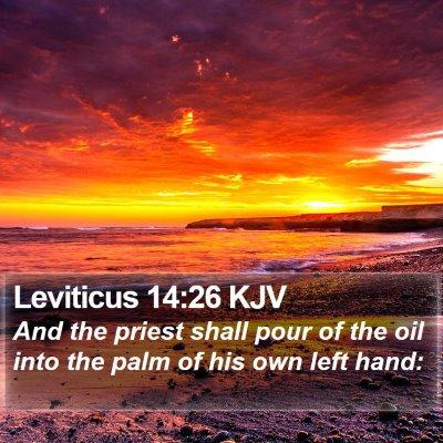 Leviticus 14:26 KJV Bible Verse Image