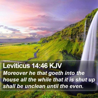 Leviticus 14:46 KJV Bible Verse Image