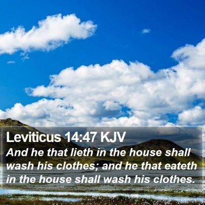Leviticus 14:47 KJV Bible Verse Image