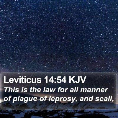 Leviticus 14:54 KJV Bible Verse Image