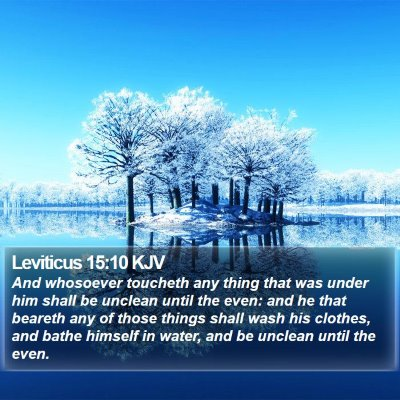 Leviticus 15:10 KJV Bible Verse Image