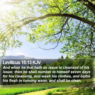 Leviticus 15:13 KJV Bible Verse Image