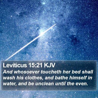 Leviticus 15:21 KJV Bible Verse Image