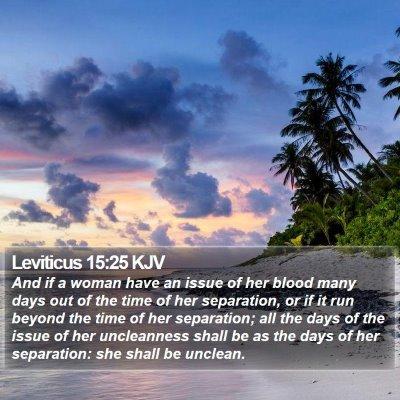 Leviticus 15:25 KJV Bible Verse Image