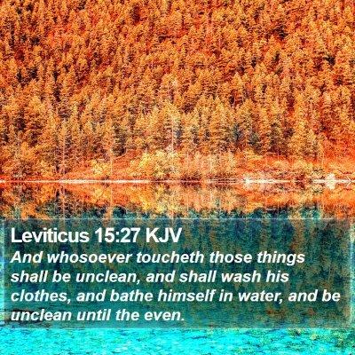 Leviticus 15:27 KJV Bible Verse Image