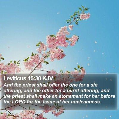 Leviticus 15:30 KJV Bible Verse Image