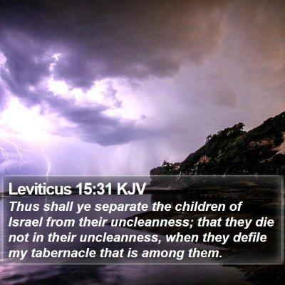 Leviticus 15:31 KJV Bible Verse Image