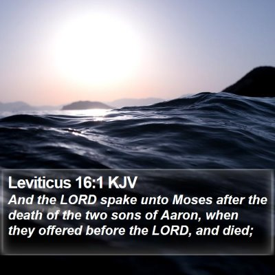 Leviticus 16:1 KJV Bible Verse Image