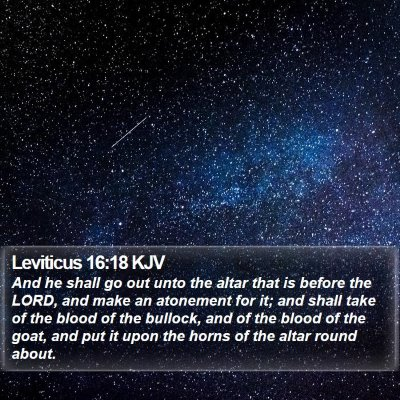 Leviticus 16:18 KJV Bible Verse Image