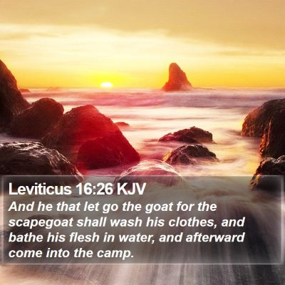 Leviticus 16:26 KJV Bible Verse Image