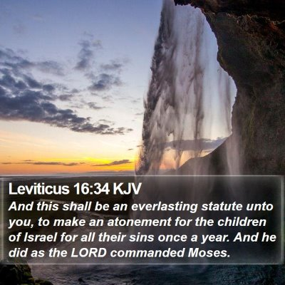 Leviticus 16:34 KJV Bible Verse Image