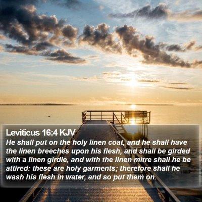 Leviticus 16:4 KJV Bible Verse Image