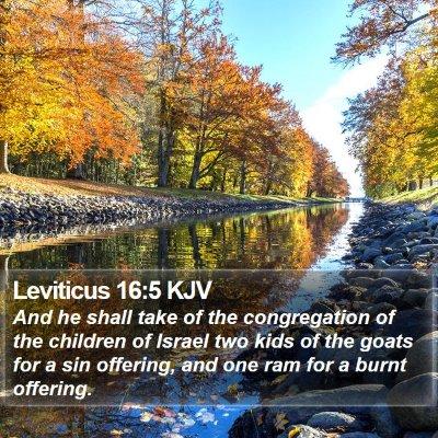 Leviticus 16:5 KJV Bible Verse Image