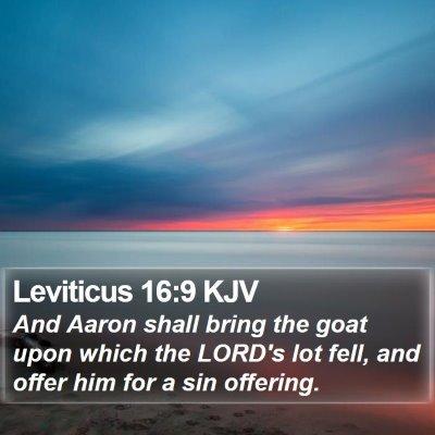 Leviticus 16:9 KJV Bible Verse Image